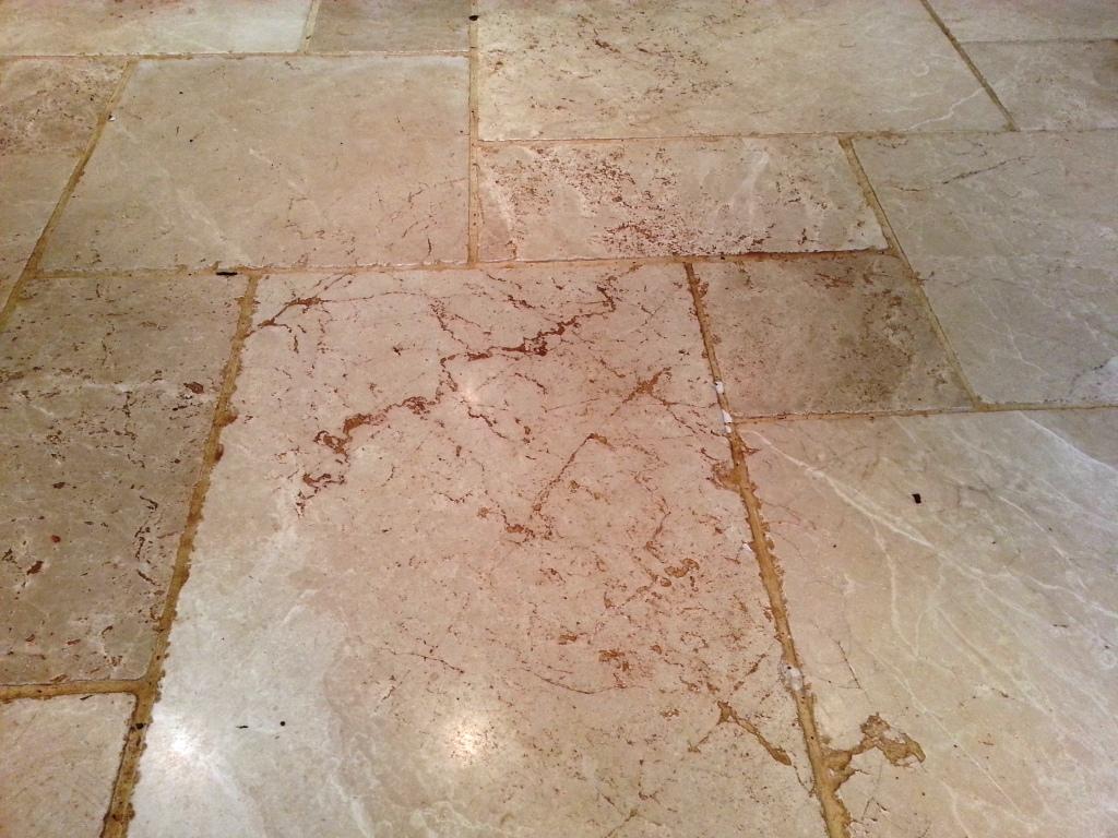 Limestone Tile Before