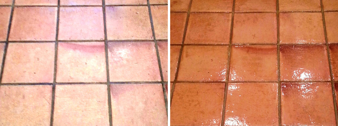 Mexican Terracotta floor tiles in Lewes, East Sussex