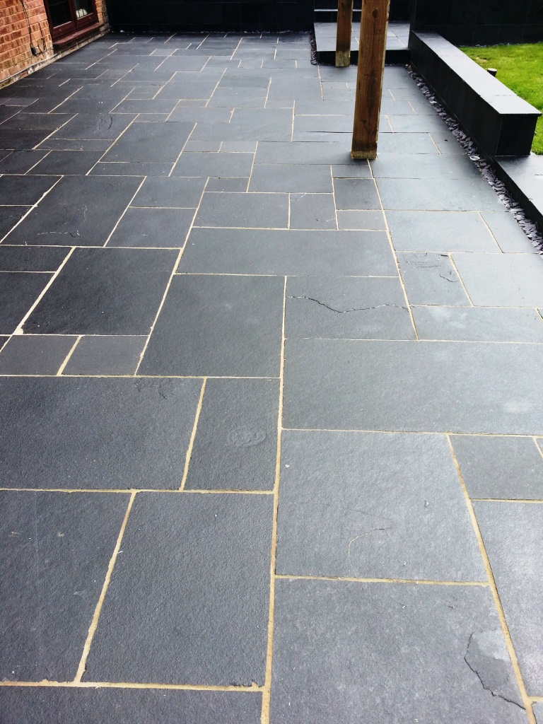 Limestone Patio in Crowborough After Cleaning