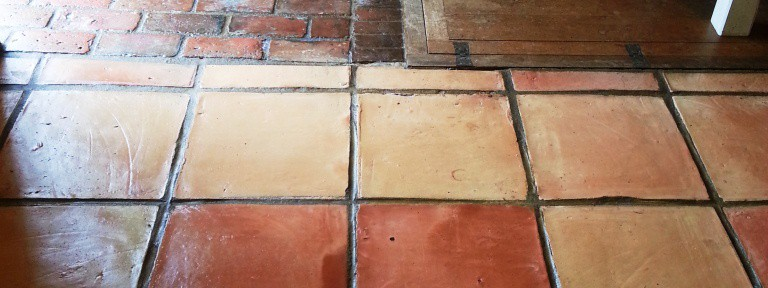 Terracotta Tiled Floor Cleaned and Sealed in Ringmer