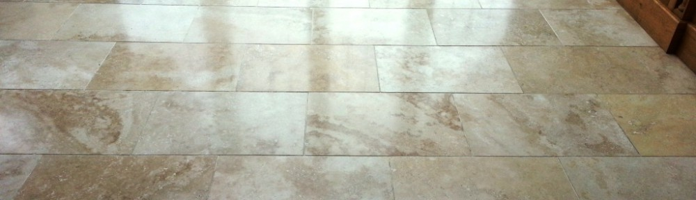 Travertine Floor Maintenance in East Grinstead