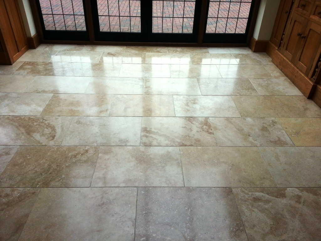 Travertine Tiled Floor East Grinsted After