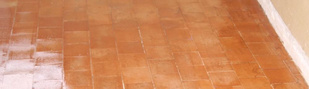 Quarry Tiled Floor Restored in Warninglid