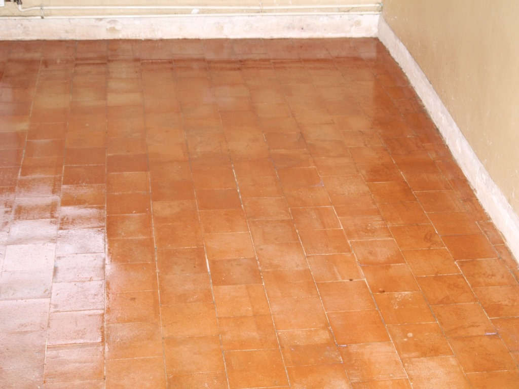 Old Quarry Tile Floor Warninglid After Restoration