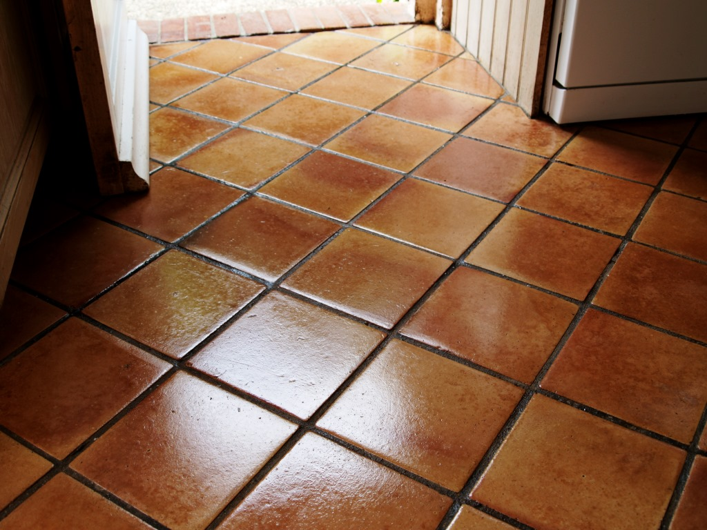 Terracotta Kitchen Floor North Chailey After Cleaning