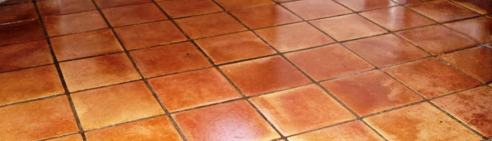 Horrendous Terracotta Tiled Floor Restored in North Chailey