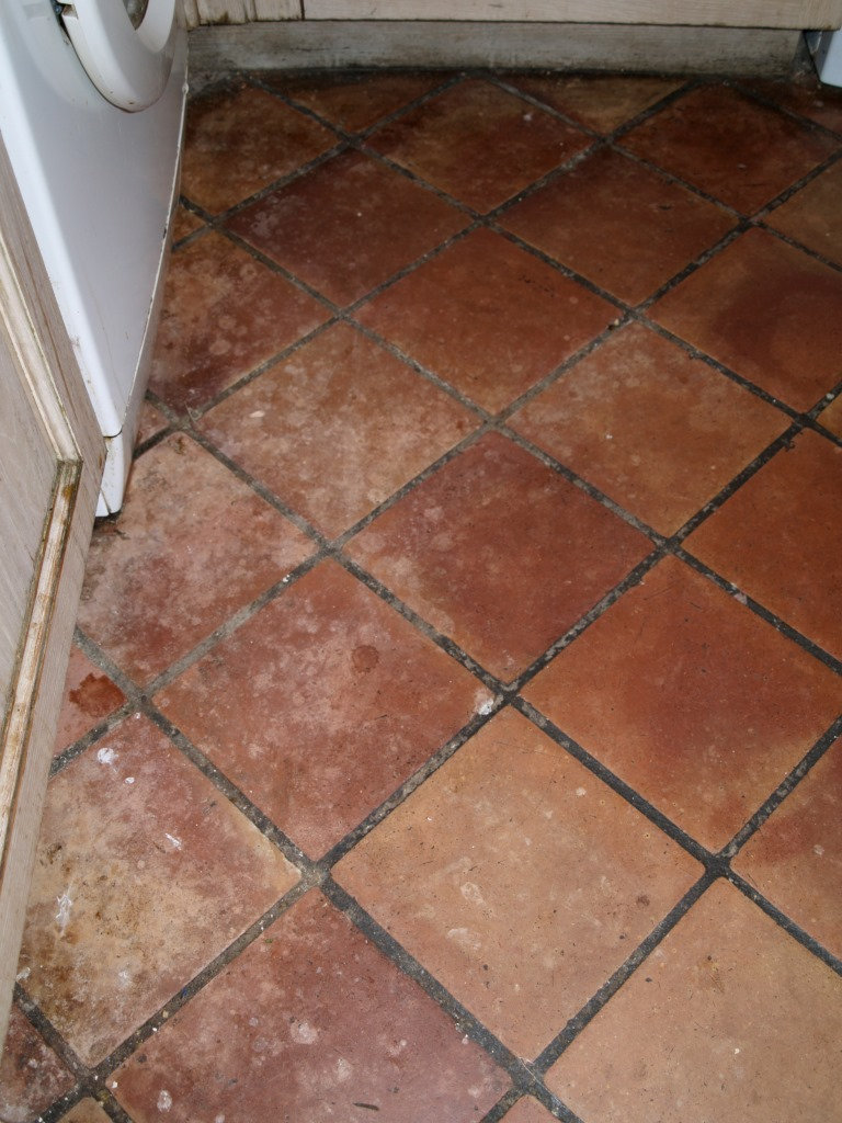 Sealing terracotta tiles stone cleaning and polishing tips for terracotta kitchen floor north chailey before cleaning dailygadgetfo Choice Image