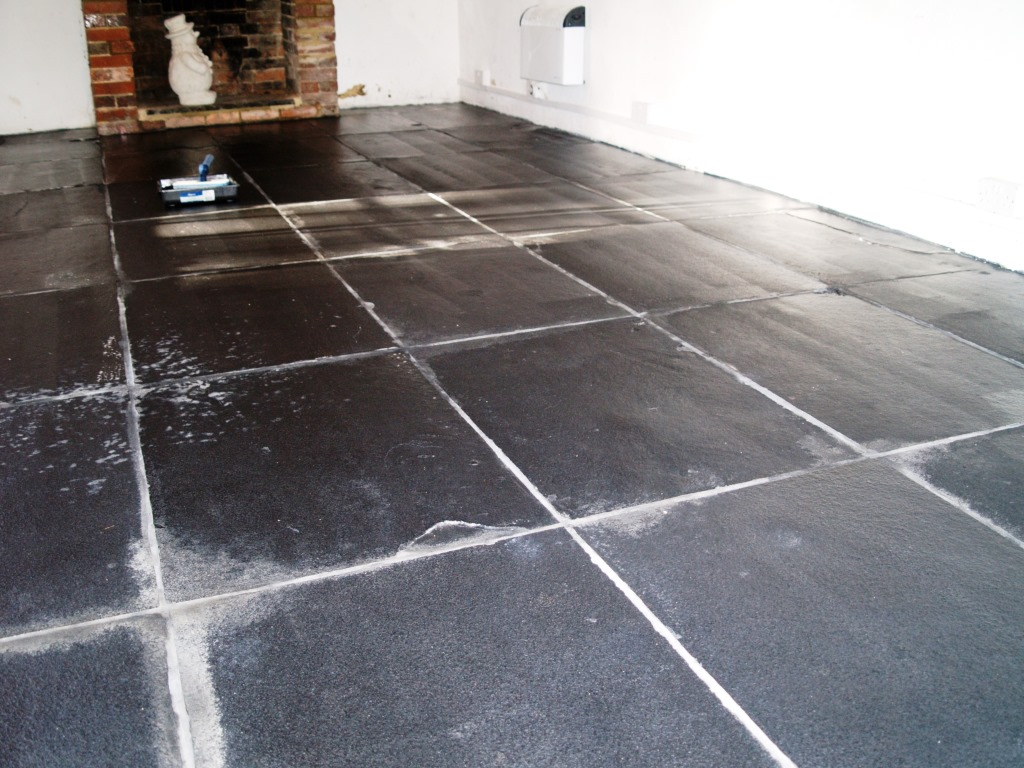 Slate Floor in Beckley Barn After