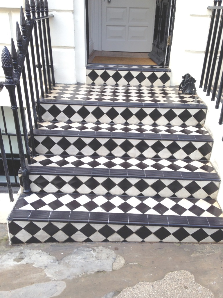 Victorian Tiled Steps Brighton Marina After Cleaning