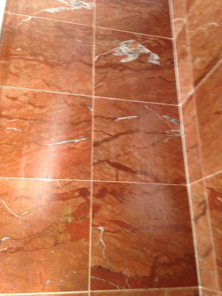 Damaged Marble Shower Tiles in Ringmer Before