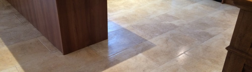 Maintaining a Limestone Kitchen floor in Iford