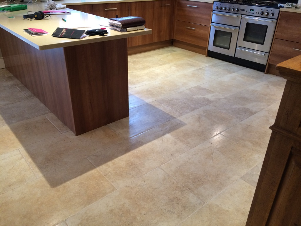 Limestone Tiles After Cleaning and Sealing Iford