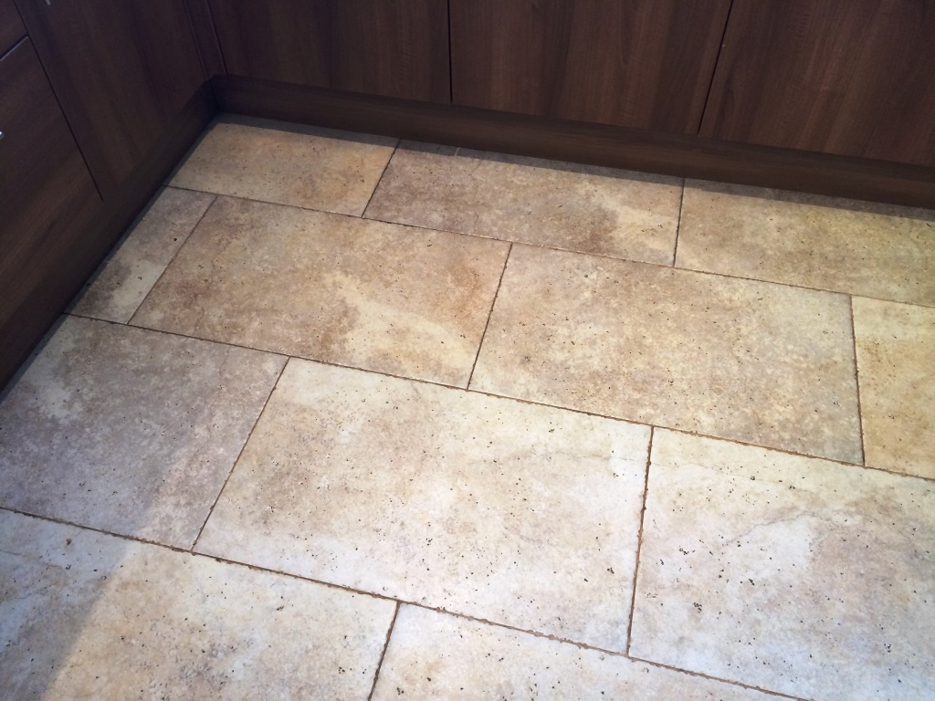 Limestone Tiles Before Cleaning Iford