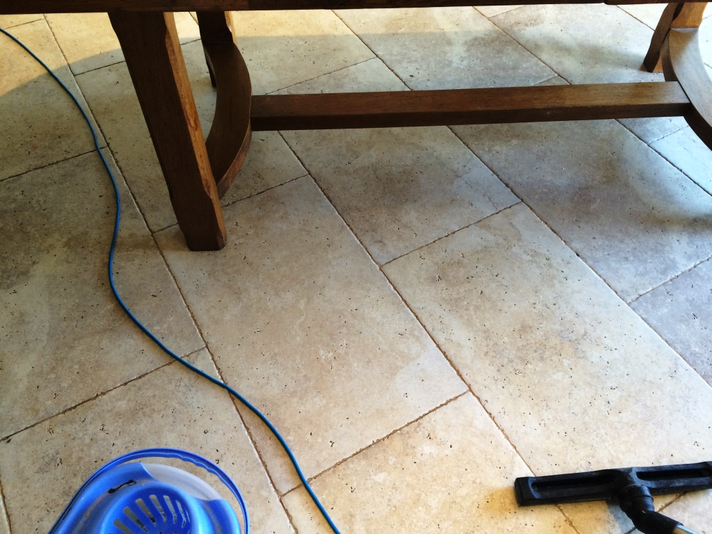 Limestone Tiles During Cleaning Iford