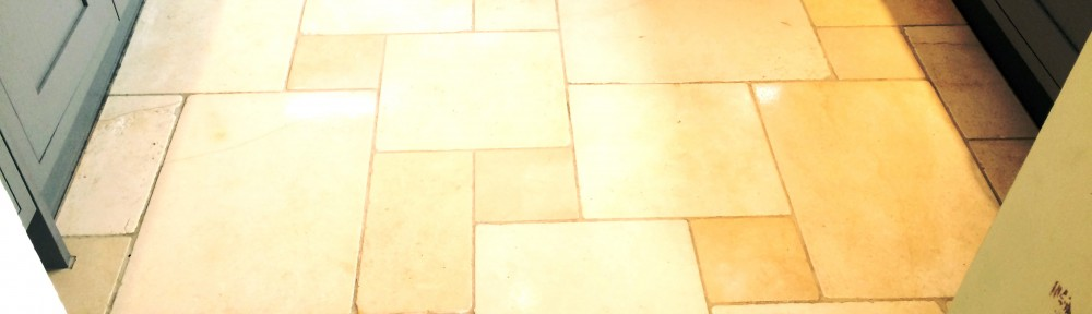 Limestone Kitchen floor Maintenance Clean in Hartfield