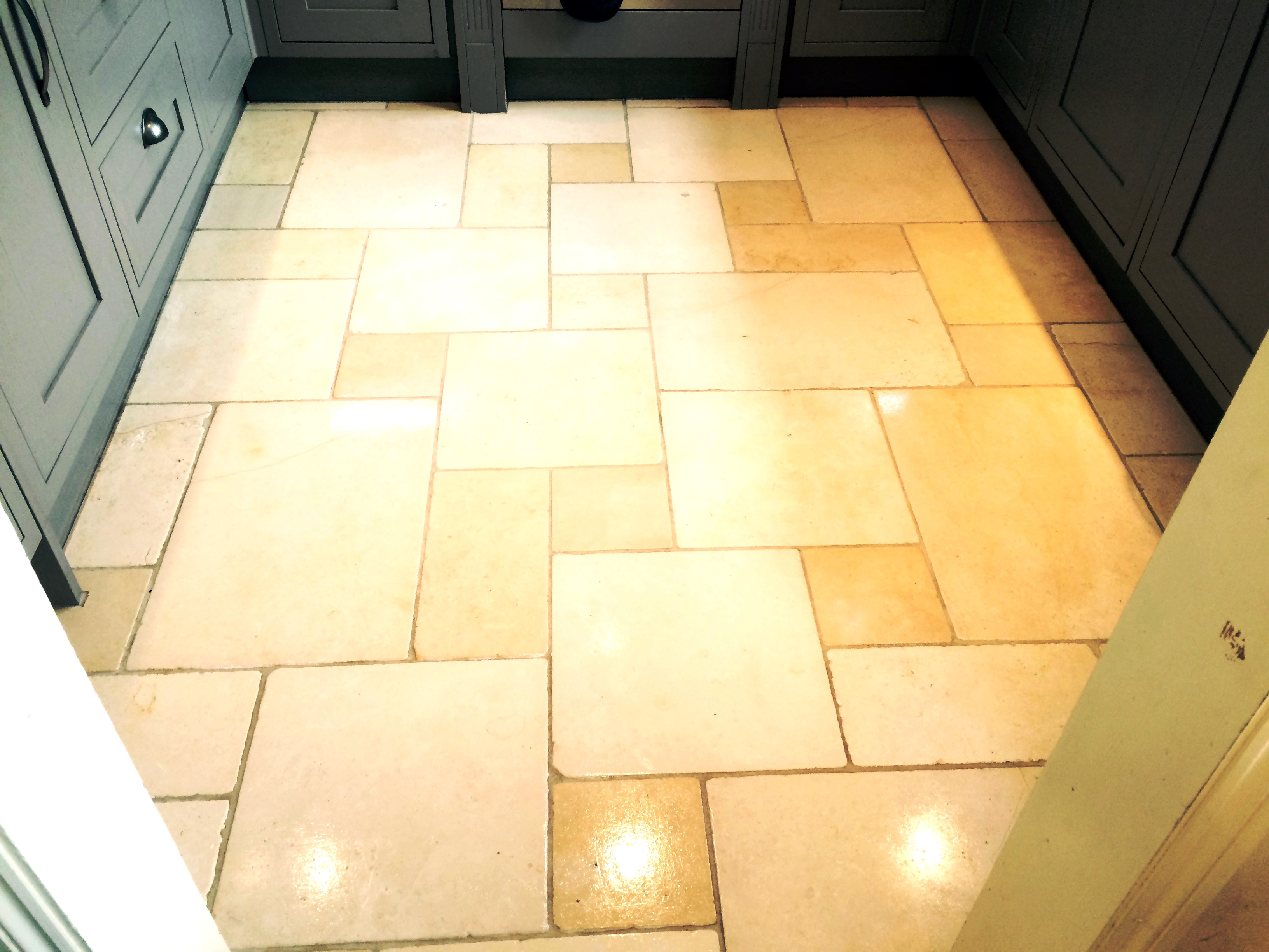 Limestone Kitchen Floor After Cleaning In Hartfield