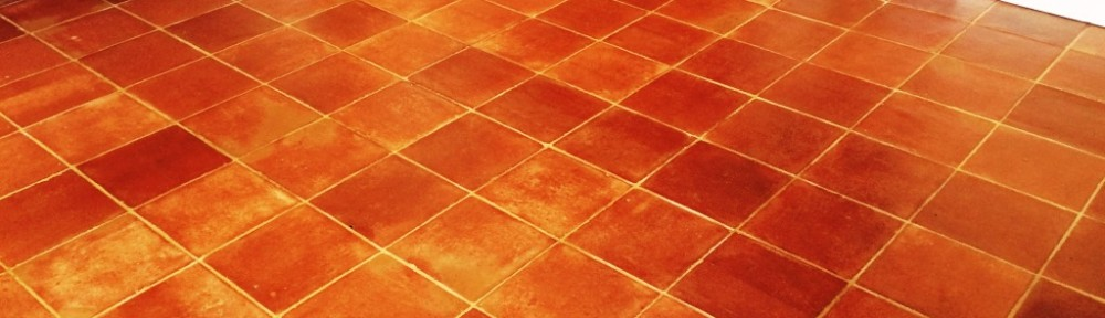 Terracotta Tiled Kitchen Floor Deep Cleaned and Sealed in Henfield