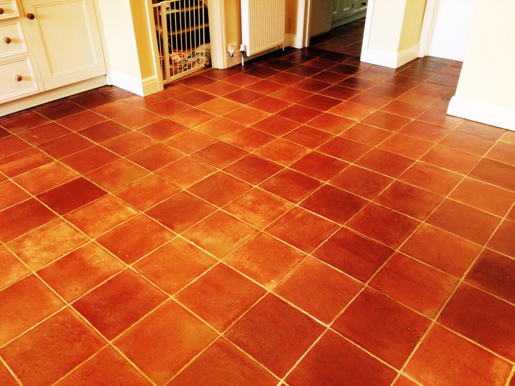 Terracotta stone cleaning and polishing tips for terracotta floors terracotta kitchen tiles after cleaning and sealing in henfield dailygadgetfo Choice Image