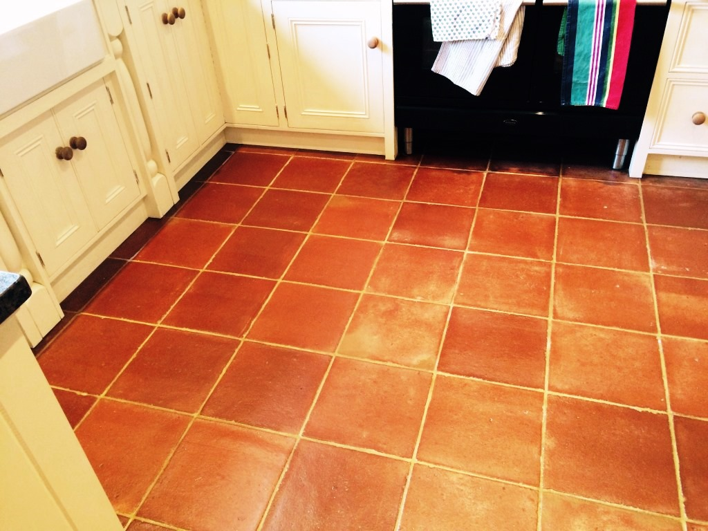 red tile floor kitchen terracotta tiled kitchen floor cleaned and sealed in 4604