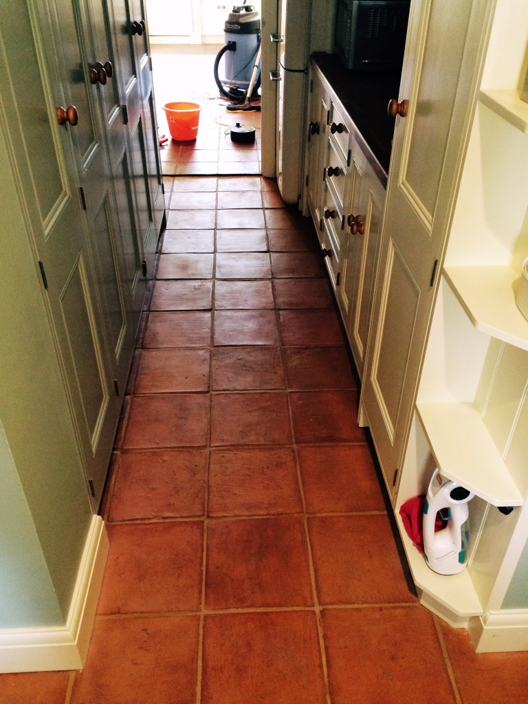 Terracotta stone cleaning and polishing tips for terracotta floors terracotta kitchen tiles before cleaning in henfield dailygadgetfo Choice Image