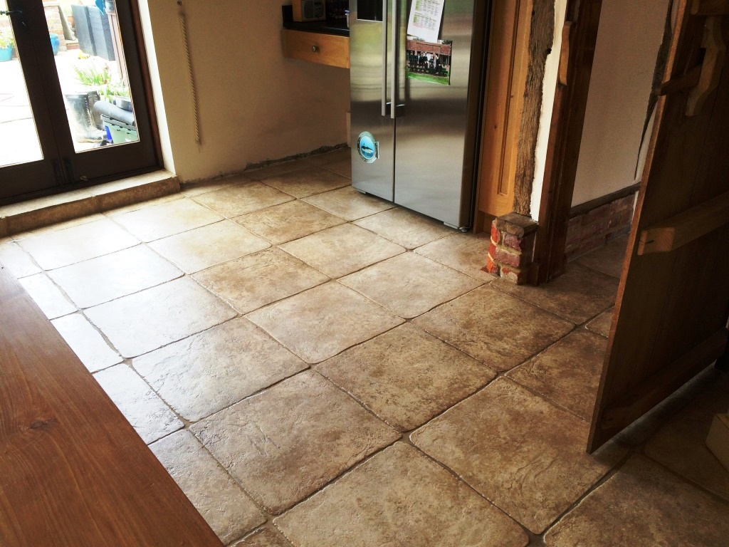 Textured Limestone After Tile Cleaning in Horsham