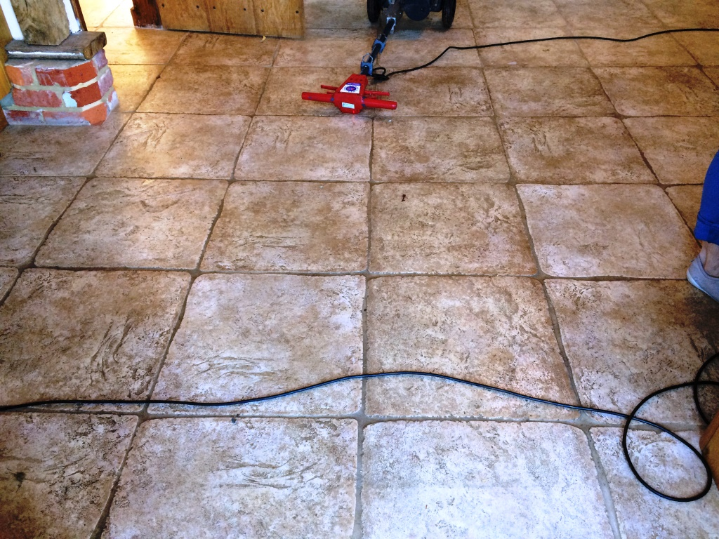 Textured Limestone Before Tile Cleaning in Horsham