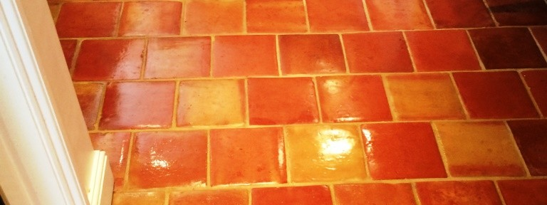 Clean and Seal For a Dirty Terracotta Tiled Floor in Wadhurst