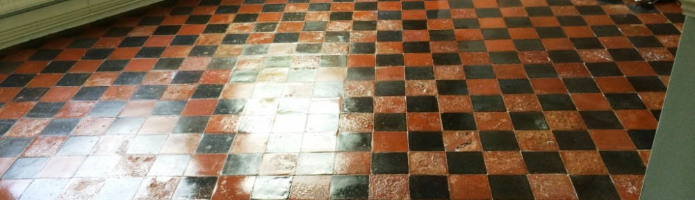 Restoring Water Damaged Quarry Tiled Floor in East Grinstead