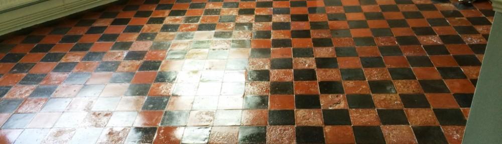 Water Damaged Quarry Tiled Floor Restoration East Grinstead After Sealing