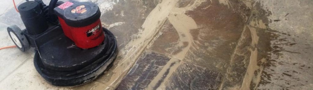 Restoration of an Extremely Dirty Yorkstone Tiled Floor in Brighton