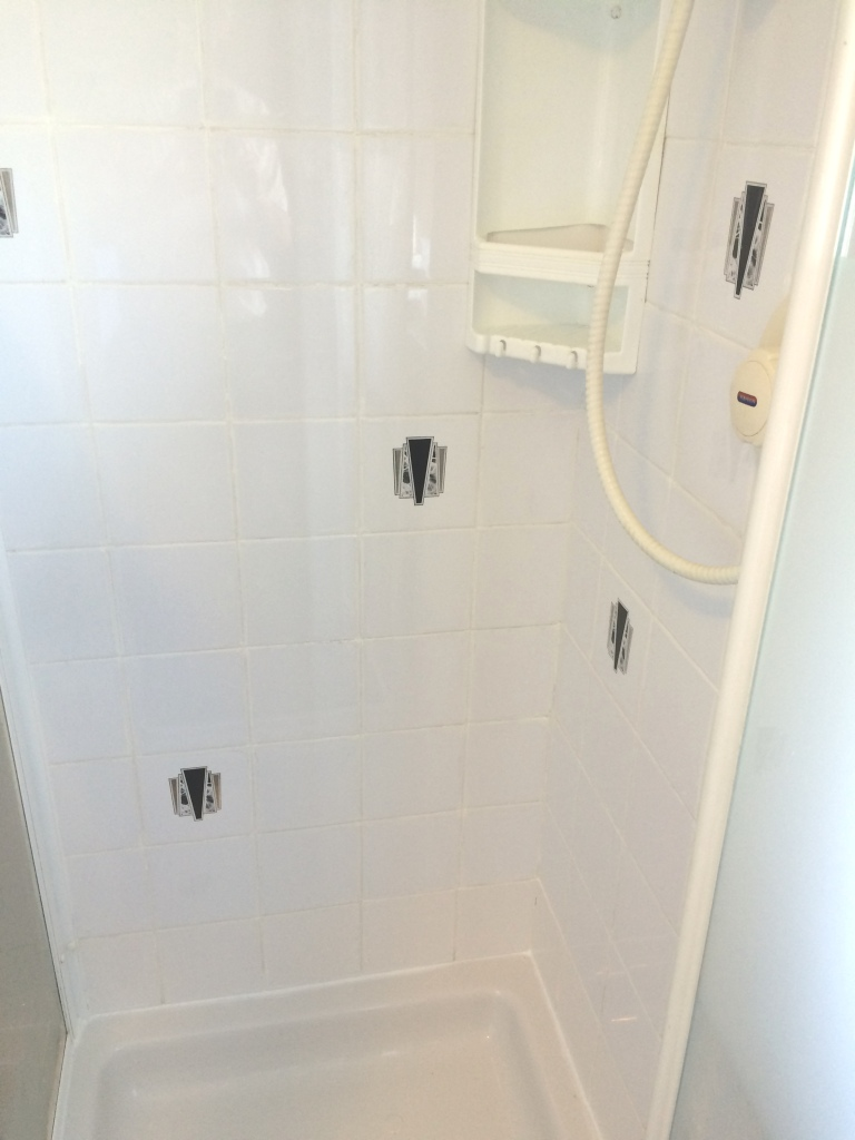 Ceramic Tiled Shower Cubicle After Cleaning Herstmonceux