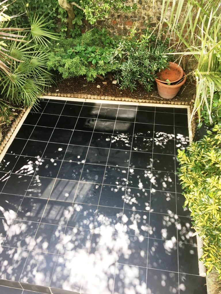 Slate Patio Courtyard Brighton After Cleaning