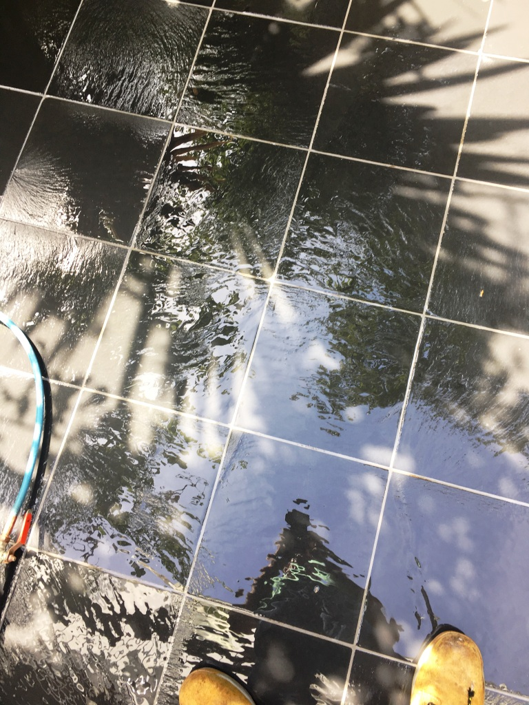 Slate Patio Courtyard Brighton During Cleaning