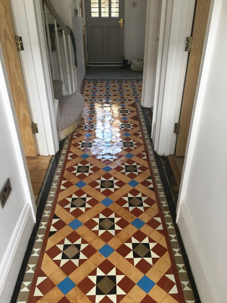 Victorian Tiled Hallway Floor After Restoration Hove