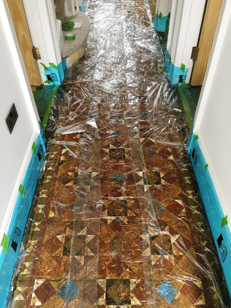 Victorian Tiled Hallway Floor During Restoration Hove