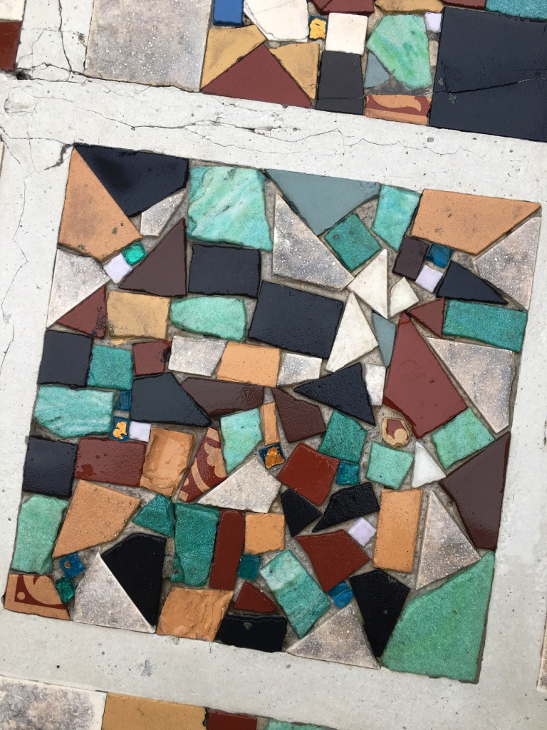 Mosaic Pathway After Cleaning in Eastbourne