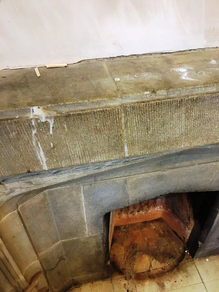 Stone Fireplace Before Cleaning Brighton