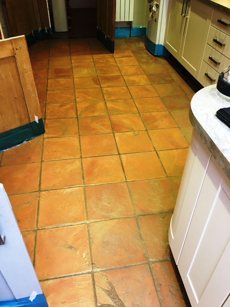 Terracotta Floor During Cleaning Brighton