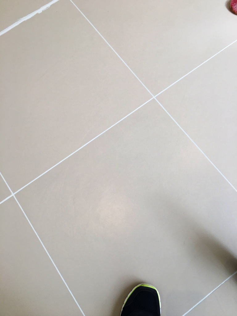 Porcelain Kitchen Tiles After Grout Colouring in Lewes Kitchen