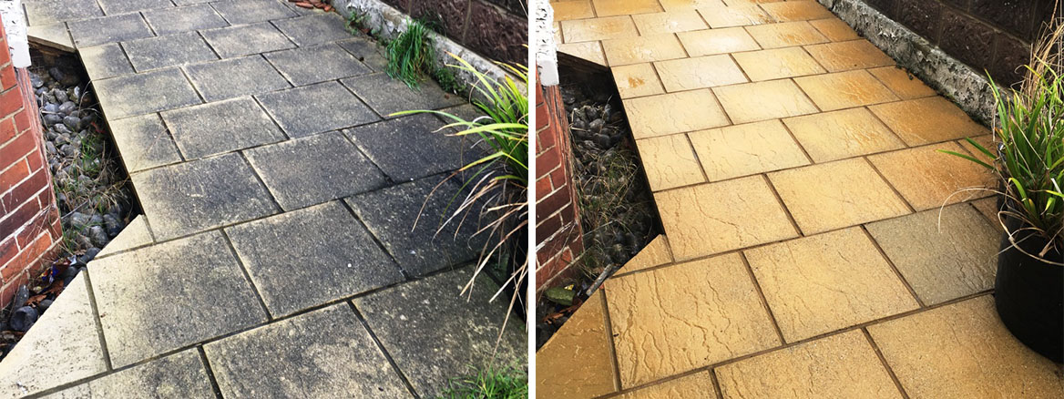 Unearthed Tiles Exchanged for Pavement Cleaning in Eastbourne